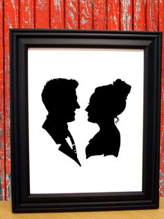 First Anniversary: Paper - Immortalize the paper anniversary—and score a conversation-starting wall hanging—with a custom silhouette by having a photo transformed into a paper cutout in black acid-free archival paper. ($40, the silhouettechicks.etsy.com)