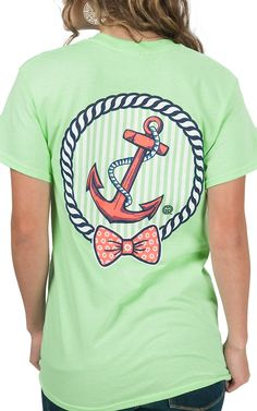 Girlie Girl Originals Women's Lime with Anchor Print Short Sleeve Tee | Cavender's