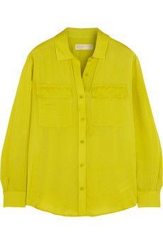 MICHAEL Michael Kors Silk-crepe shirt | NET-A-PORTER