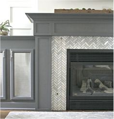 Herringbone Fireplace Tile Surround Jpg 503 525 Pixels Around