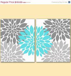 ON SALE Flower Bursts Botanical Printable Art 2 by PurpleChicklet, $8.00