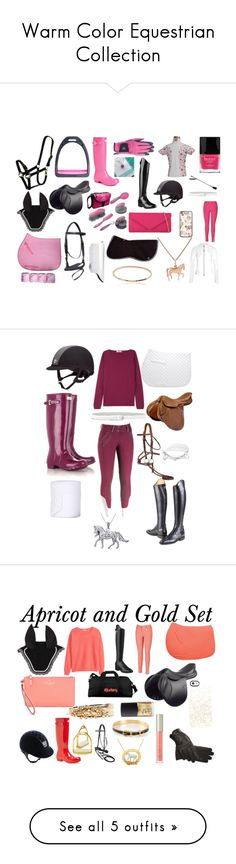 """Warm Color Equestrian Collection"" by equestrierin ❤ liked on Polyvore featuring Ariat, Fashion Focus, Gemma J, Samantha Wills, Hunter, Monreal, Butter London, ALDO, Oster and Bling Jewelry"