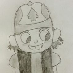 Dipper Pines in Over the Garden Wall style. By Mira.G