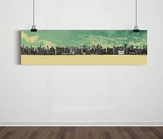 Poster Panorâmico World Skyline Sky / Artista Sergio Piancó