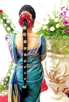 South Indian Bridal Hairstyles Pictures #SouthIndian   #BridalHairstyle