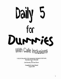 The Daily 5 For Dummies.pdf - Google Drive. I can't find my copy, so this is great!