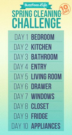 Here's your cleaning schedule: