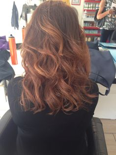 Balyage brown hair
