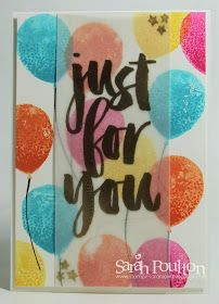 Stampin' Sarah!: A Bright Balloon Celebration Card from Stampin' Up! UK Demonstrator Sarah Poulton