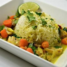 """Coconut Chicken Curry Stew 