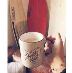 A coffee tastes better in this coffee mug, promised heart emoticon