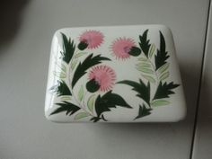 """Stangl """"Thistle"""" Cigarette Box - Made between 1950-1963. Kay Hackett Design."""