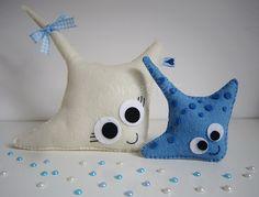 ♥♥♥ Mamã Raia e filhote ... by sweetfelt  ideias em feltro