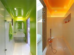 brightly colored bathrooms airstream loft apartment