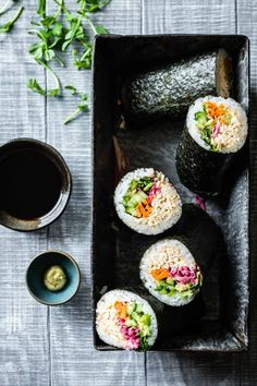 Tofu is an affordable, versatile, plant-based protein that can be made in a wide variety of healthy vegan meals. From nachos to lasagna to soup, try one of these 30 recipes for tofu dinners tonight! Tofu Sushi, Vegan Sushi, Tofu Recipes, Whole Food Recipes, Healthy Recipes, Healthy Appetizers, Lunch Recipes, Appetizer Recipes, Healthy Foods