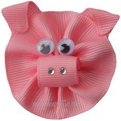 Pig hair clip