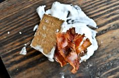 oh yeah, pure craziness right here:  bourbon marshmallow bacon s'mores  {How Sweet Eats, of course}