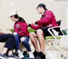 Song Ji Hyo and Kim Jong Kook, Running Man ep. 320. © on gif