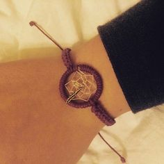 Dream Catcher Bracelet Burgundy Feather by KnotTreasures on Etsy