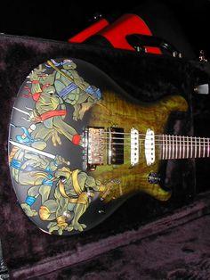 Μusic is my life: guitar custom turtle. Omg omg omg omg omg<3