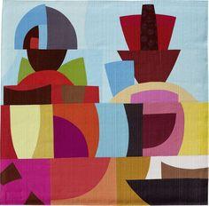 Color improvisation of a modern quilt