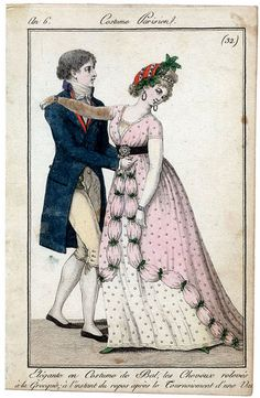 1798. Love the overgrown ruching and the headdress.