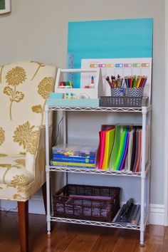 Make homework a snap with an organized DIY homework station. Get ready for back-to-school with Operation: Organization {Back to School Edition}.