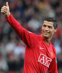 'Viva Ronaldo' was the chant the Stretford End sang to salute this @manutd legend. Here, Cristiano gives the fans his seal of approval.