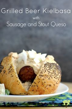 msg4-21+ Grilled Beer Kielbasa with Sausage and Stout Queso for Oktoberfest…