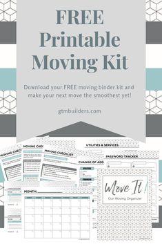 moving binder printables free \ moving binder printables free moving binder printables free home Moving Checklist Printable, Moving Out Checklist, Moving List, Moving House Tips, Moving Home, Moving Day, Moving Hacks, Moving Binder, Moving Planner