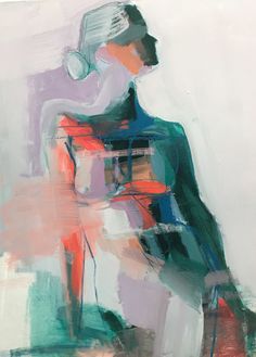 Lilac Shadow by Teil Duncan. Her paintings are amazing! Abstract Portrait, Abstract Art, Figure Painting, Painting & Drawing, Love Painting, Modern Art, Contemporary Art, Oil Pastel Paintings, Oil Pastel Art