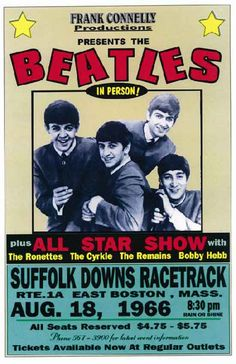 #Beatles - Suffolk Downs Racetrack - Boston 1966.