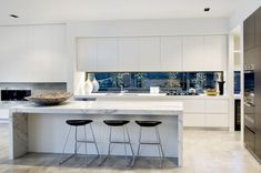 kitchens with charcoal bench tops - Google Search