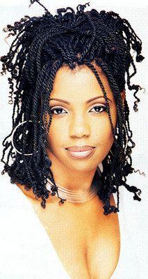 Kinky Twists - Medium hair styles, Long hair styles, Twist hairstyles, Styles, Female, Black hair, Adult hair, Kinky twists hairstyle picture