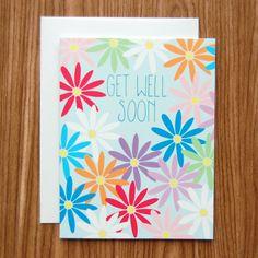 Get Well Soon Daisies Card