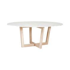 Marcello Oval Italian Marble Dining Table- Oak