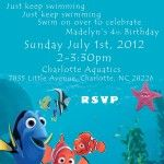Nemo Birthday Party Invitations