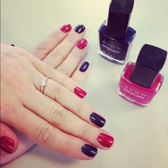 Alesha's new limited edition shades, Inky Blue and Red Reveal come out soon! Do you love them? #nails #avon #nailwear #notd
