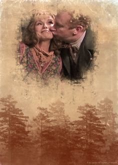 Weasleys. I LOVE Mr. and Mrs. Weasly, and especially love they're relationship.