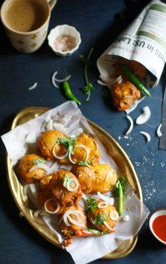 Garlicky Aubergine Fritters/ Bhajias/ Beguni