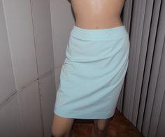 Apostrophe skirt  pencil pastel green polyester blens sz 8 lined #Apostrophe…
