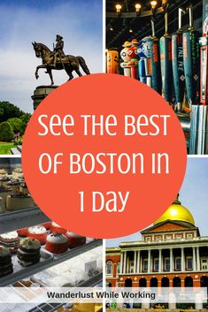 Are you visiting Boston but short on time in the city? Check out my itinerary including food and sightseeing to get the best of Boston in 1 day! Day Trips From Boston, Places In Boston, Boston Things To Do, New England Usa, New England Travel, Work Travel, Travel Usa, Beach Travel, Boston Travel