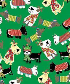 Jillson & Roberts Set of 3 Christmas Dog Jumbo Gift Wrap Rolls Dog Christmas Gifts, Christmas Gift Wrapping, Holiday Gifts, Christmas Crafts, Dog Gifts, Whimsical, Wraps, Diy Crafts, Paper