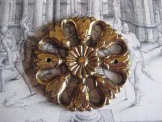 1 Vintage Cast Brass 60mm Floral Design Medallion by StarPower99, $6.99