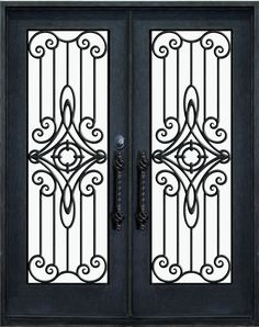 Porte D Entre Fer forg – Ideen für die Küche Modern Window Design, Window Grill Design, Craftsman Front Doors, Double Doors Exterior, Front Door Design, Gate Design, Iron Front Door, Indian Doors, Classic Window