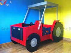Tractor Boys Theme Bed - Quality Tractor Bed - Bedtime Bedz