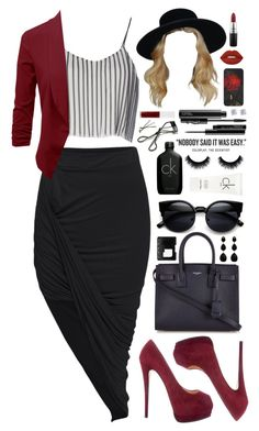 """""""it was."""" by dyciana ❤ liked on Polyvore featuring Calvin Klein, Jovonna, Giuseppe Zanotti, MAC Cosmetics, Bobbi Brown Cosmetics, Lime Crime, Obsessive Compulsive Cosmetics, BOBBY, Yves Saint Laurent and NARS Cosmetics"""