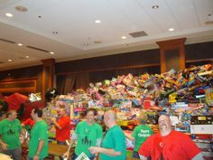 toy donations at the Margarita Ball Dallas. Incredible.