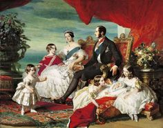 A painting of Queen Victoria, Prince Albert and their family in 1846, by Franz Xavier Winterhalter