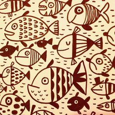 Fishies. #inktober #fish #doodle #sketchbook #illustration #linziedraws